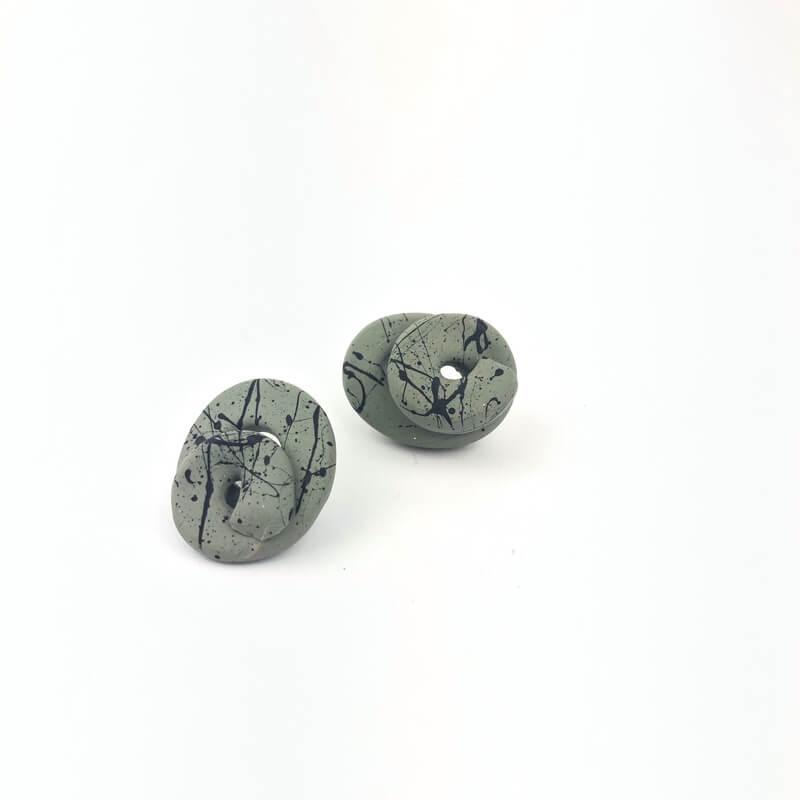 pendiente-verde-negro-nudo