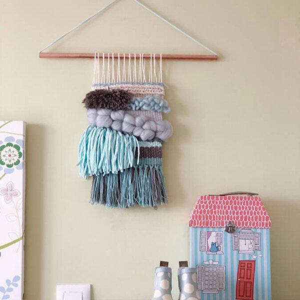 tapiz-azul-telar-decorativo-azul