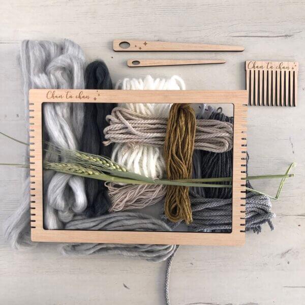 kit completo fibras y telar