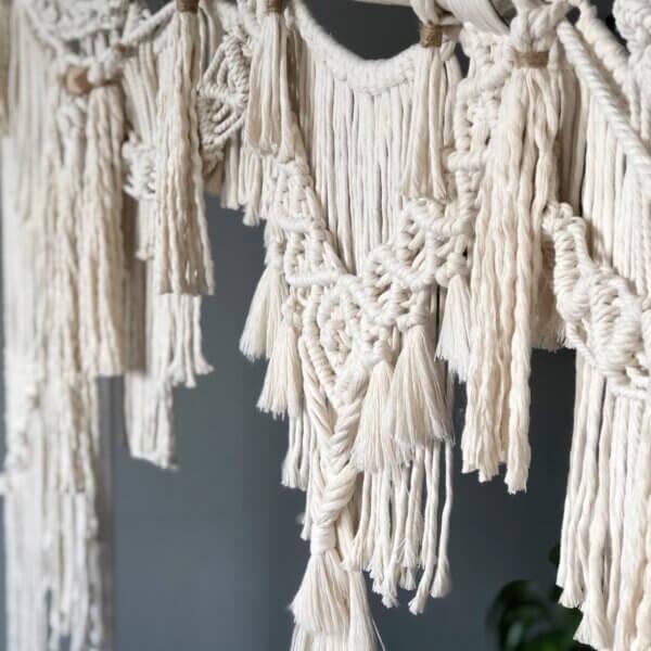 tapiz de macramé