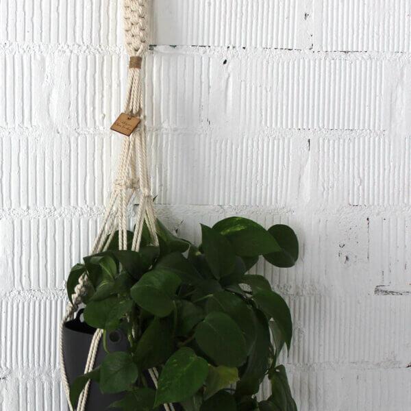 portamacetas nudo cuadradro macrame
